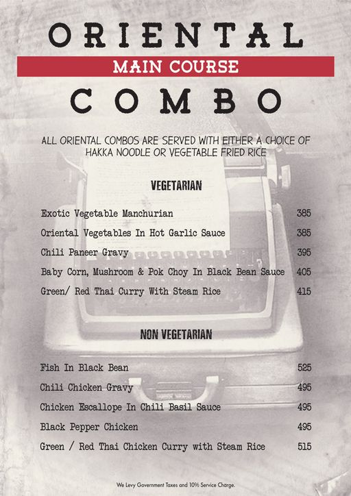 Menu 13 - Decode Air Bar, Sector 29, Gurgaon