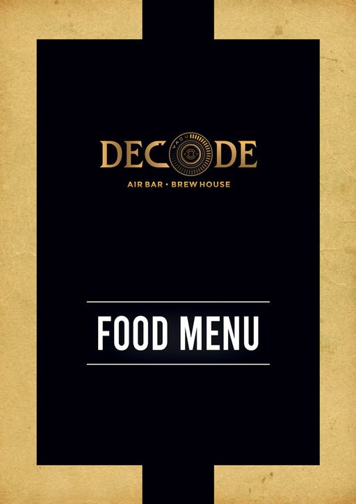 Menu 1 - Decode Air Bar, Sector 29, Gurgaon