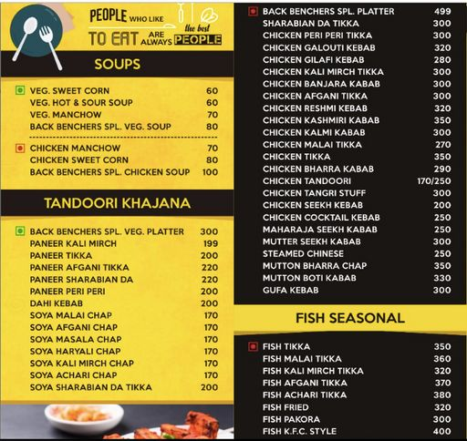 Menu 1 - Back Benchers, Sector 38, Gurgaon