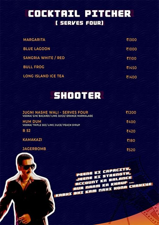 Menu 11 - Angrezi - Bollywood Bar & Kitchen, Church Street, Bangalore
