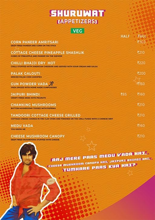 Menu 2 - Angrezi - Bollywood Bar & Kitchen, Church Street, Bangalore