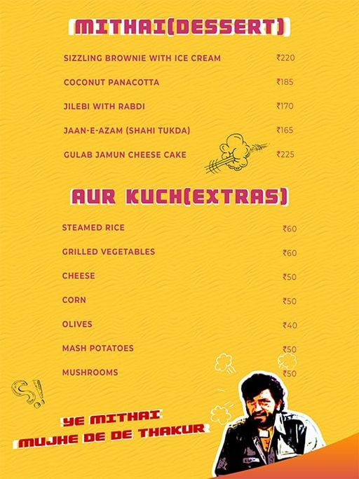 Menu 3 - Angrezi - Bollywood Bar & Kitchen, Church Street, Bangalore