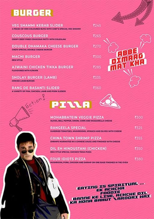 Menu 5 - Angrezi - Bollywood Bar & Kitchen, Church Street, Bangalore