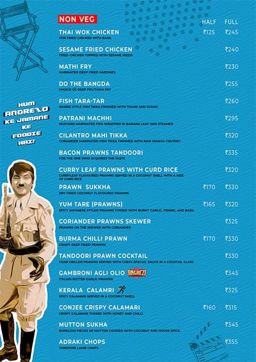 Menu 6 - Angrezi - Bollywood Bar & Kitchen, Church Street, Bangalore