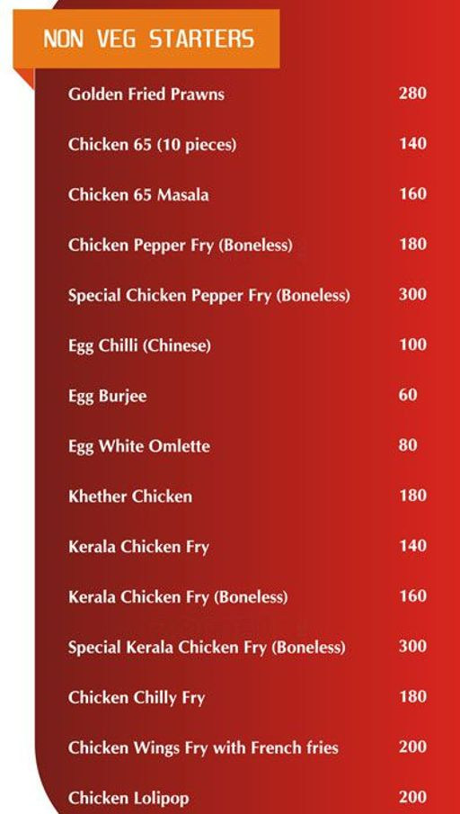 Food Menu 5 of Kuttanadu, HSR, Bangalore