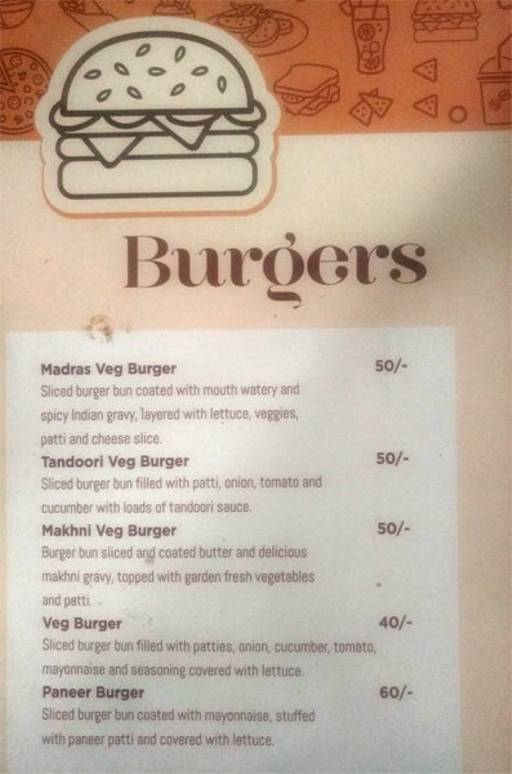 Menu 4 - Rooftop Cafe, Jayanagar, Bangalore