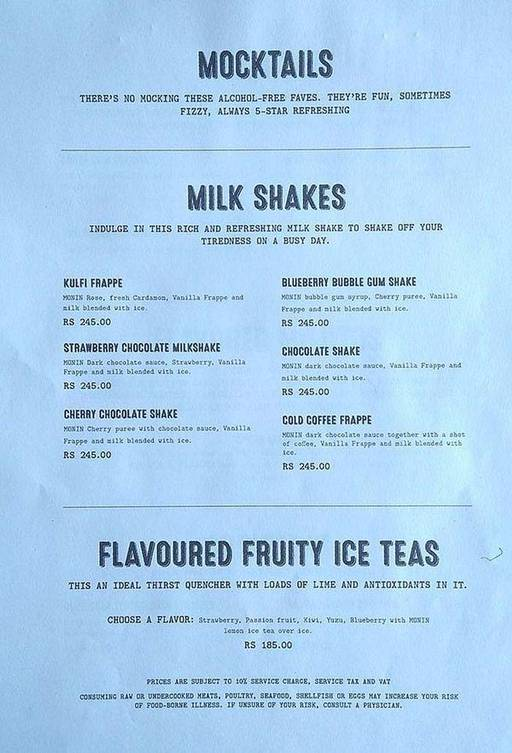 Menu 9 - Roadhouse Cafe, Greater Kailash (GK) 1, New Delhi