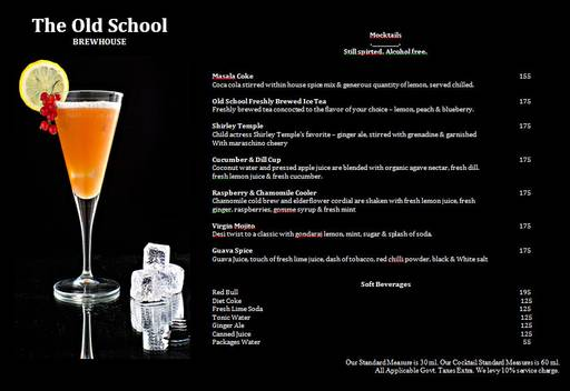 Menu 10 - The Old School Brew House, Sector 29, Gurgaon