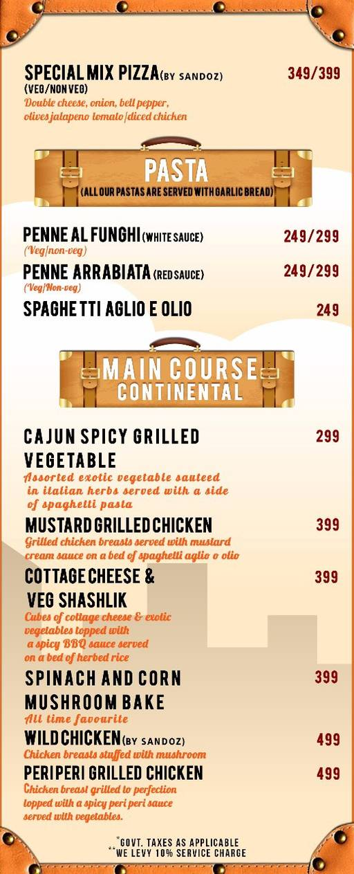 Menu 1 - The Luggage Room Kitchen And Bar, CP, Connaught Place (CP), New Delhi