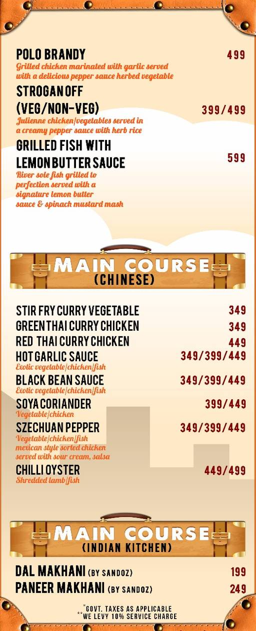 Menu 10 - The Luggage Room Kitchen And Bar, CP, Connaught Place (CP), New Delhi