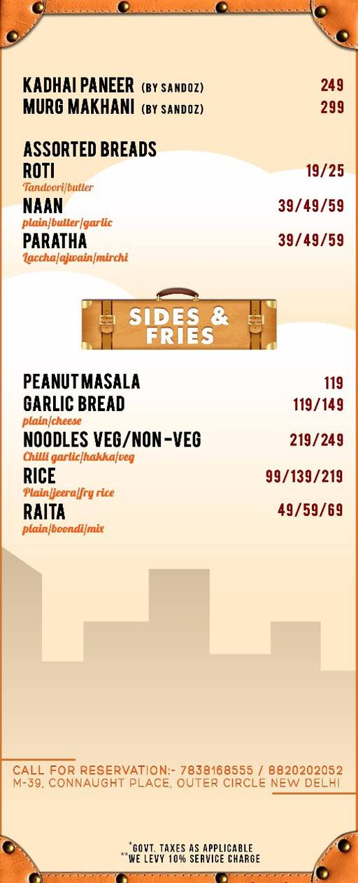 Menu 4 - The Luggage Room Kitchen And Bar, CP, Connaught Place (CP), New Delhi