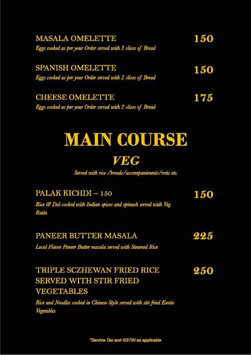 Menu 8 - Straight Up, Fuso Hotels Llp, Thanisandra, Bangalore