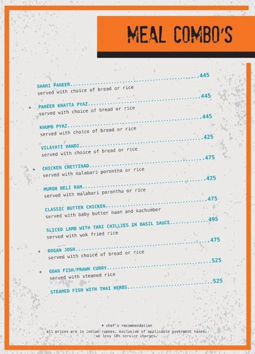 Menu 15 - Ministry Of Beer, Connaught Place (CP), New Delhi