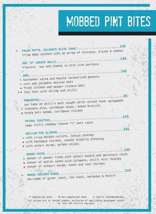 Menu 1 - Ministry Of Beer, Connaught Place (CP), New Delhi