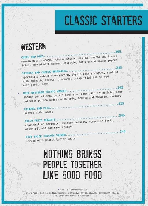 Menu 7 - Ministry Of Beer, Connaught Place (CP), New Delhi