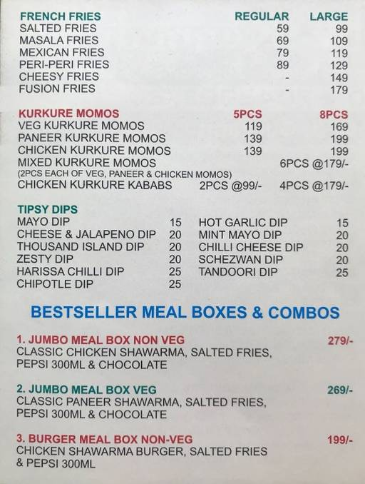 Food Menu 3 of B Shed Cafe by Kennedy's, DLF Phase 3, Gurgaon