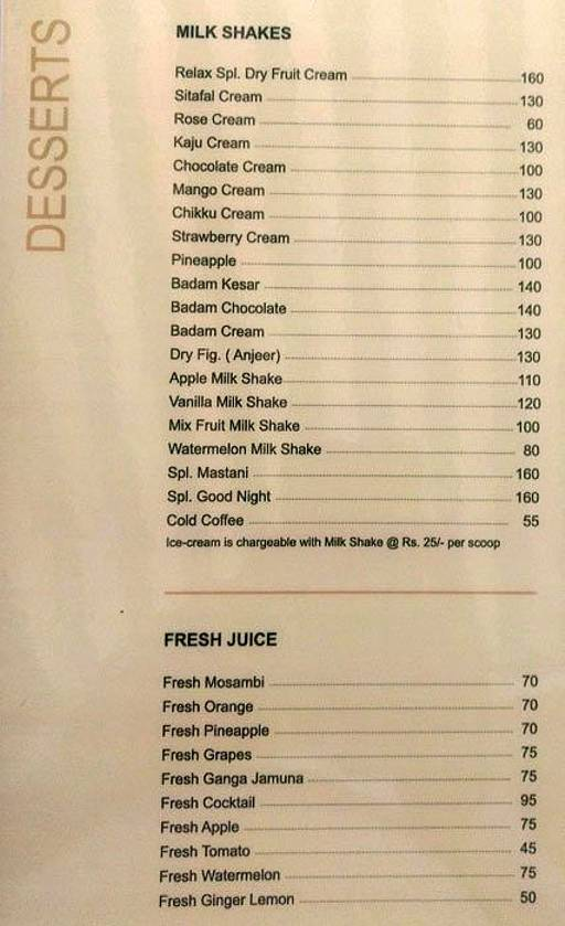 Food Menu 8 of Relax Pure Veg, Parvathi, Pune