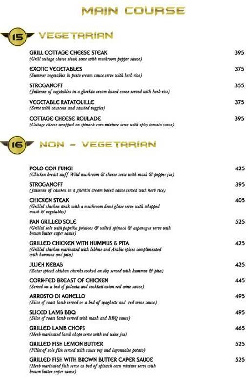 Menu 11 - Big Boyz Lounge, Sector 29, Gurgaon