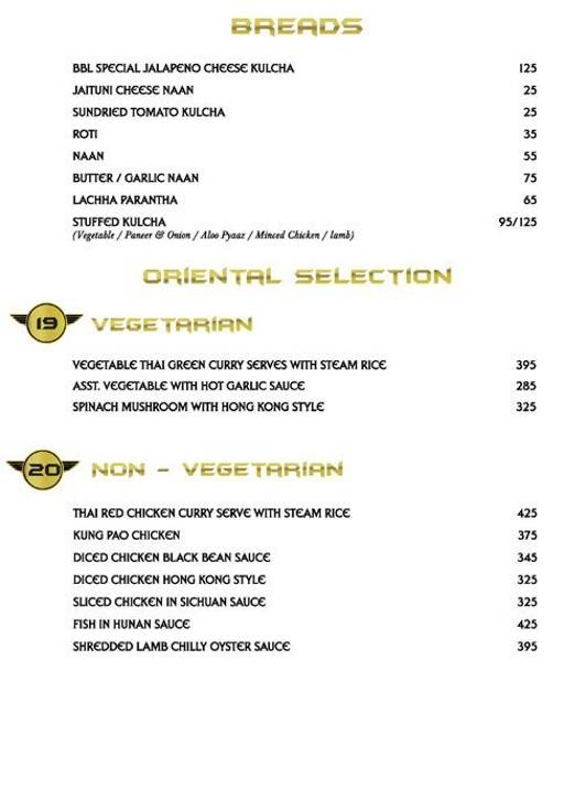 Menu 13 - Big Boyz Lounge, Sector 29, Gurgaon