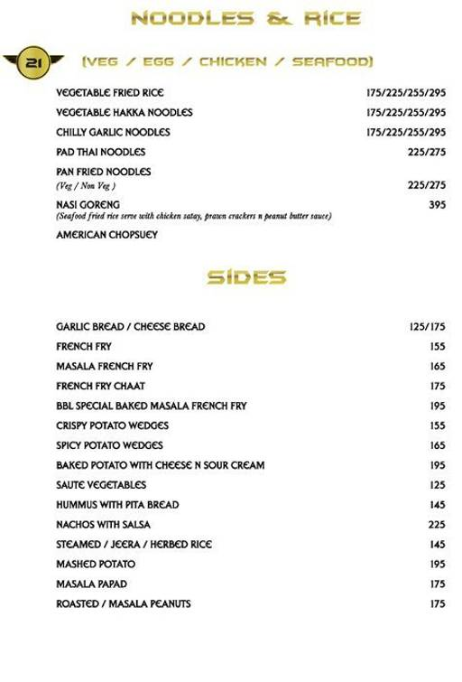 Menu 14 - Big Boyz Lounge, Sector 29, Gurgaon