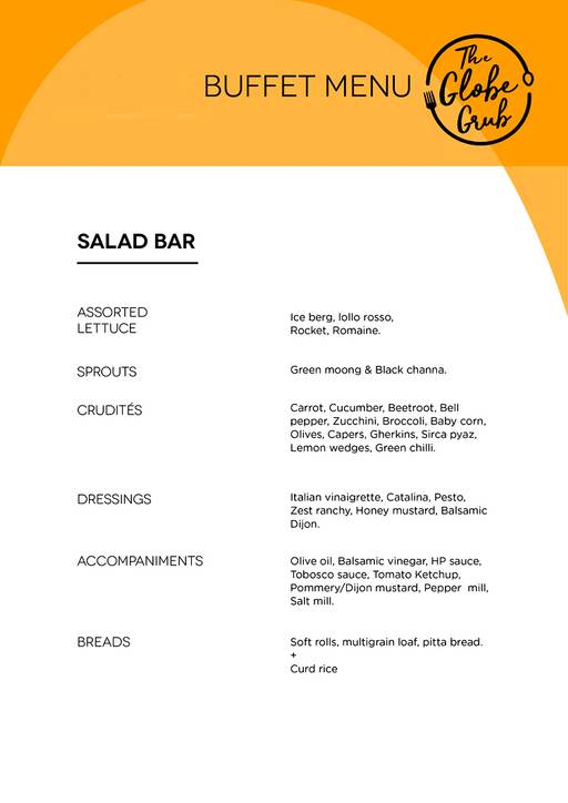 Menu 12 - The Globe Grub, Marathahalli, Bangalore