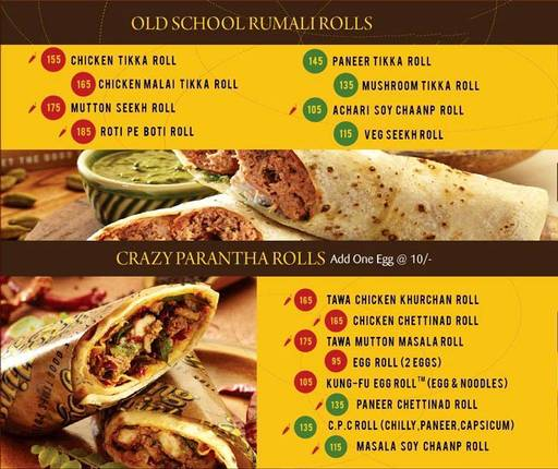 Food Menu 1 of The Rolling Joint, Connaught Place (CP), New Delhi