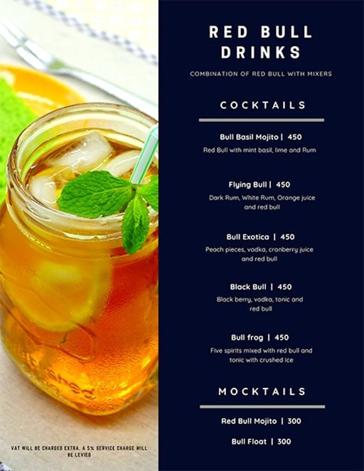 Bar Menu 5 of Rike- Terrace Bar & Grill, Lokhandwala Complex, Andheri West, Mumbai