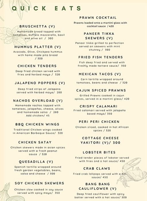 Food Menu 7 of Rike- Terrace Bar & Grill, Lokhandwala Complex, Andheri West, Mumbai
