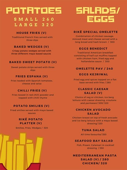 Food Menu 9 of Rike- Terrace Bar & Grill, Lokhandwala Complex, Andheri West, Mumbai