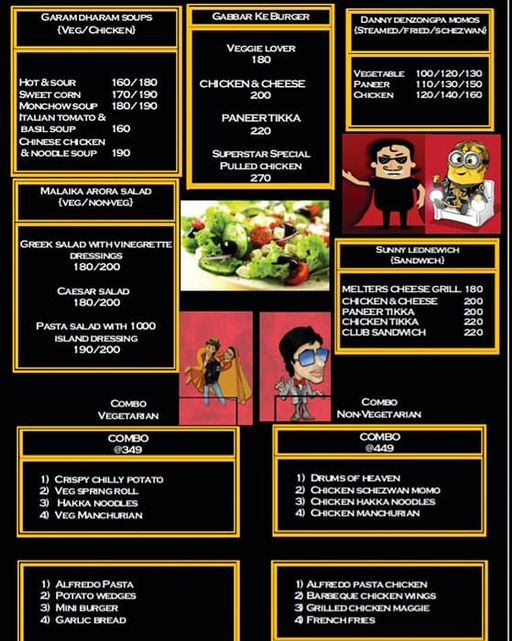 Menu 2 - Superstar Cafe, Satyaniketan, New Delhi