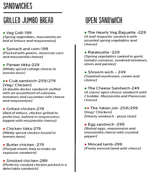 Food Menu 2 of Cafe 21, Preet Vihar, New Delhi