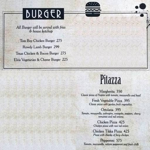 Menu 2 - Mafioso, Hauz Khas Village, New Delhi