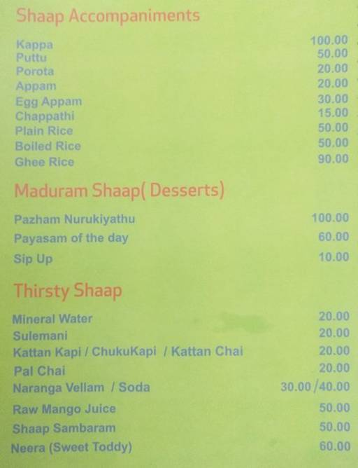 Food Menu 4 of Shaap, Koramangala, Bangalore