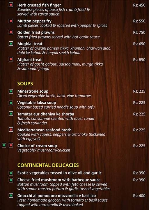 Menu 5 - Lobby Cafe - Radha Regent, Electronic City, Bangalore