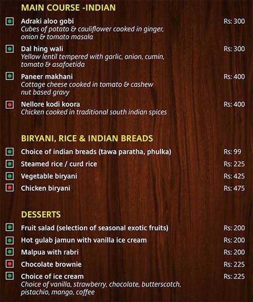 Menu 10 - Lobby Cafe - Radha Regent, Electronic City, Bangalore