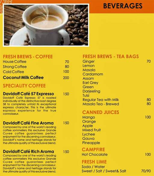 Menu 1 - Urban Solace - Cafe for the Soul, Ulsoor, Bangalore