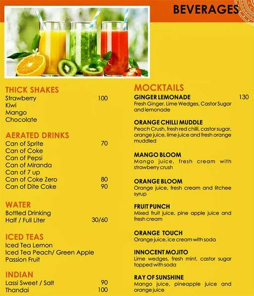 Menu 2 - Urban Solace - Cafe for the Soul, Ulsoor, Bangalore