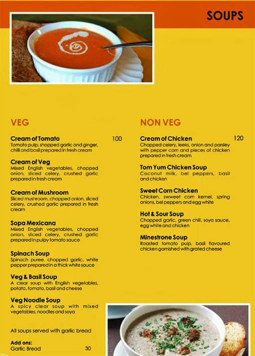 Menu 6 - Urban Solace - Cafe for the Soul, Ulsoor, Bangalore