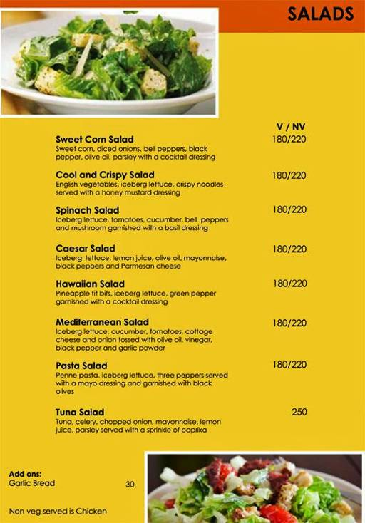 Menu 7 - Urban Solace - Cafe for the Soul, Ulsoor, Bangalore