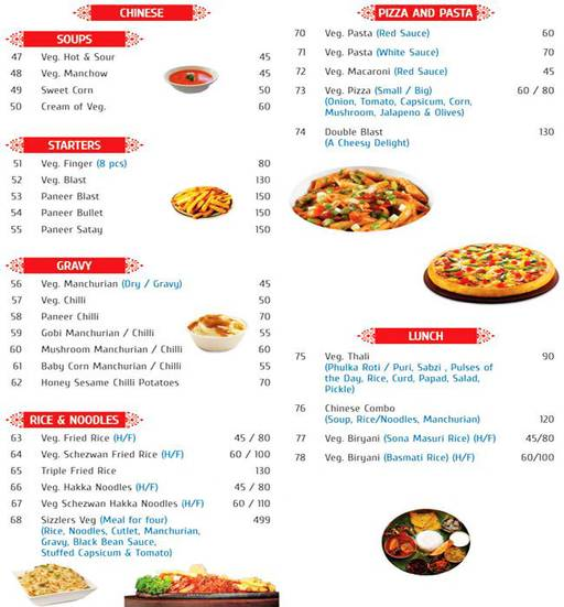 Menu 2 - Adityaa's Snacks & Bakers, Yeshwantpur, Bangalore