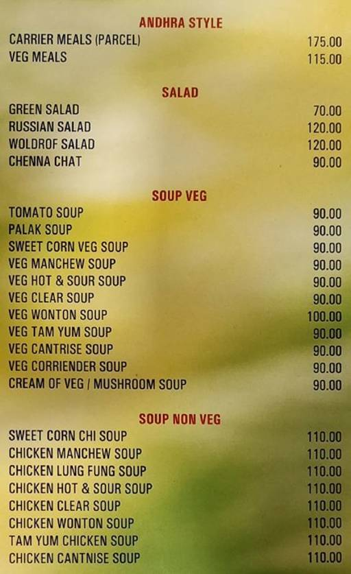 Food Menu 5 of Green Family Bar & Restaurant, Electronic City, Bangalore