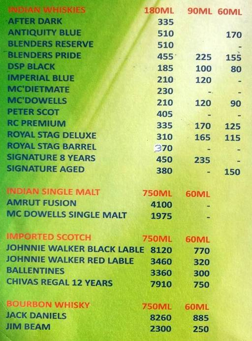 Food Menu 11 of Green Family Bar & Restaurant, Electronic City, Bangalore