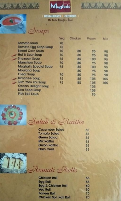 Food Menu 6 of Mughals Restaurant, Shivajinagar, Bangalore