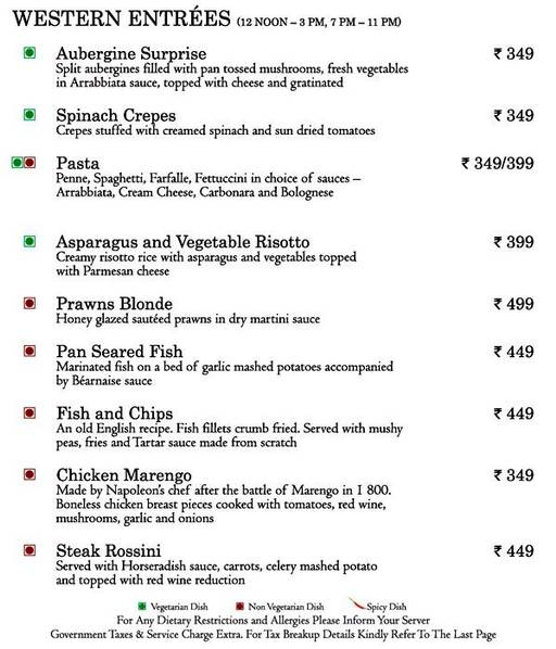 Food Menu 2 of Mosaic, Nagawara, Bangalore