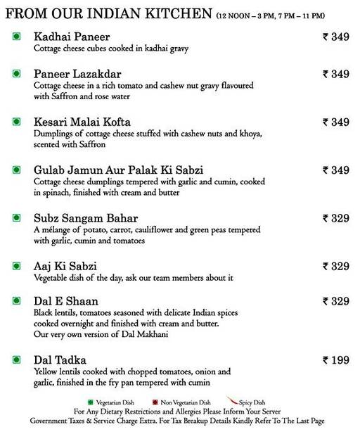 Food Menu 4 of Mosaic, Nagawara, Bangalore