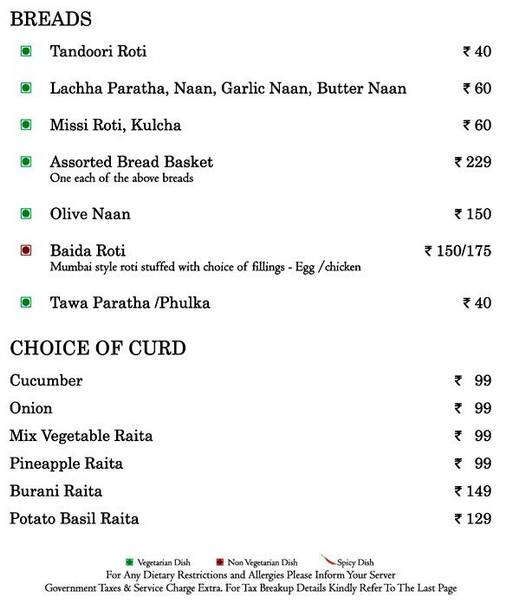Food Menu 6 of Mosaic, Nagawara, Bangalore