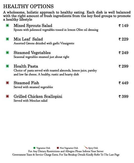 Food Menu 8 of Mosaic, Nagawara, Bangalore