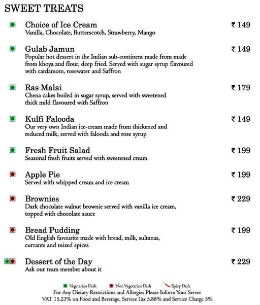 Food Menu 11 of Mosaic, Nagawara, Bangalore