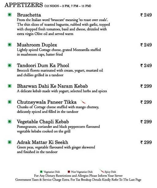 Food Menu 16 of Mosaic, Nagawara, Bangalore