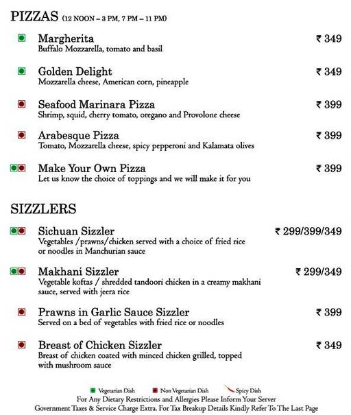 Food Menu 19 of Mosaic, Nagawara, Bangalore